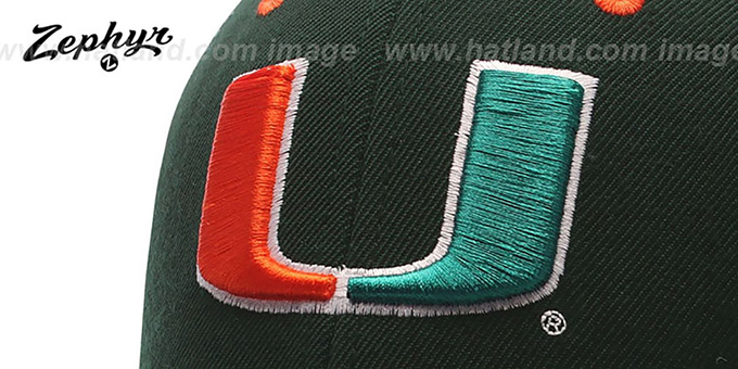 Miami 'U DH' Fitted Hat by Zephyr - green