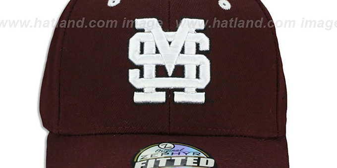 Mississippi State 'DH' Maroon Fitted Hat by Zephyr