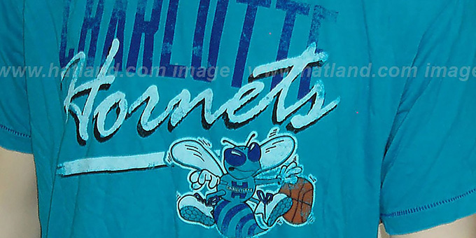 Mitchell & Ness Hornets 'Fan Vintage' Teal T-Shirt