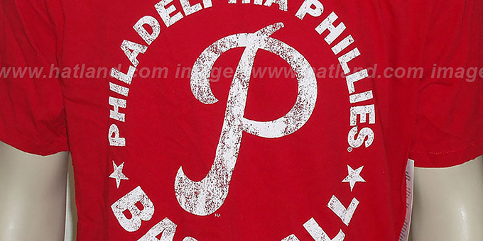 Mitchell & Ness Phillies 'Fan Vintage' Red T-Shirt