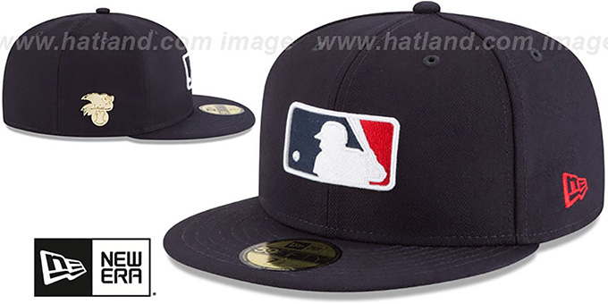 MLB AL Umpire 'GILDED TURN' Navy Fitted Hat by New Era