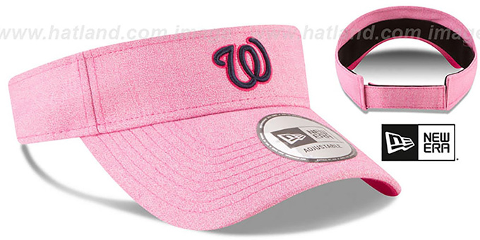 Nationals '2018 MOTHERS DAY VISOR' Heather Pink by New Era
