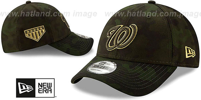 Nationals 2019 ARMED FORCES 'STARS N STRIPES STRAPBACK' Hat by New Era