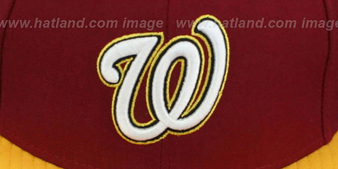 Nationals '2T OPPOSITE-TEAM' SNAPBACK Burgundy-Gold Hat by New Era