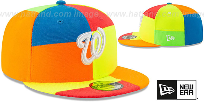 Nationals 'DAYGLOW PATCHWORK SNAPBACK' Hat by New Era