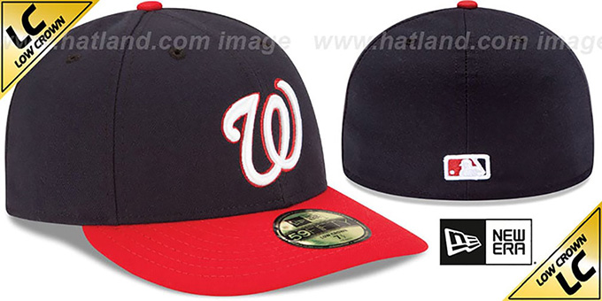 Nationals 'LOW-CROWN' ALTERNATE Fitted Hat by New Era