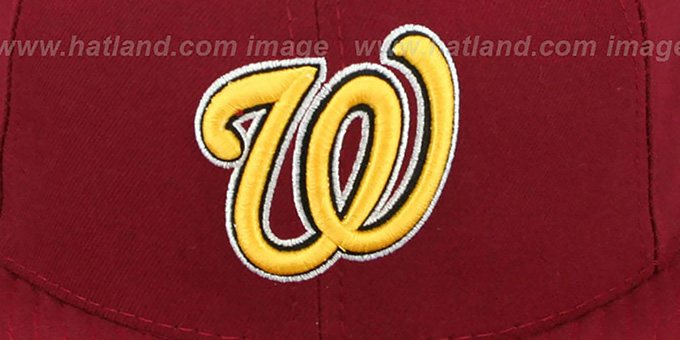 8455e489fa0 ... Nationals  OPPOSITE-TEAM  Burgundy Fitted Hat by New Era ...