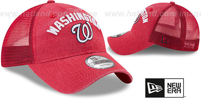 Nationals 'RUGGED-TEAM TRUCKER SNAPBACK' Red Hat by New Era