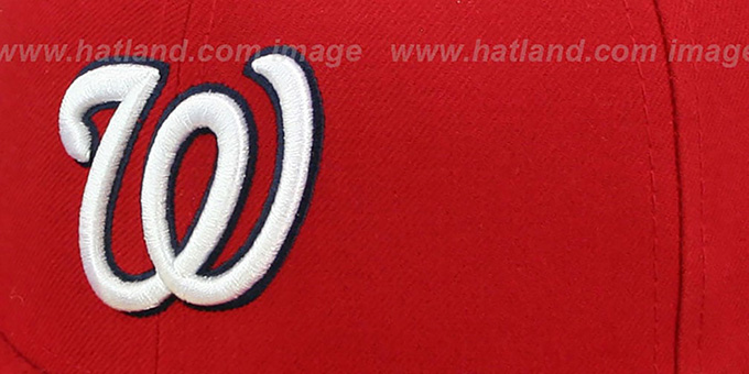 ... Nationals  SIDE TEAM-PATCH  Red Fitted Hat by New Era ... 4f2d854ec28c