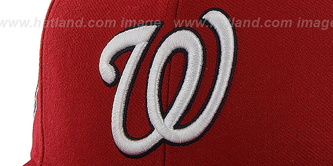 Nationals 'SURE-SHOT SNAPBACK' Red Hat by Twins 47 Brand