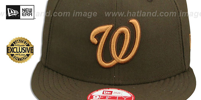 Nationals 'TEAM-BASIC SNAPBACK' Brown-Wheat Hat by New Era