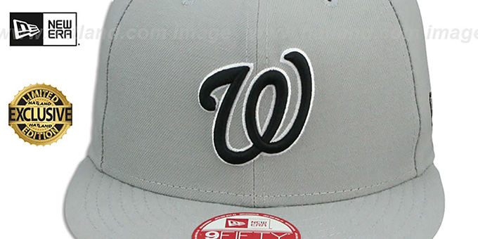 Nationals 'TEAM-BASIC SNAPBACK' Grey-Black Hat by New Era
