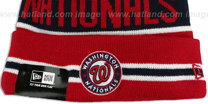 Nationals 'THE-COACH' Red Knit Beanie Hat by New Era