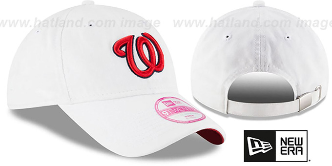 Nationals 'WOMENS PREFERRED PICK STRAPBACK' White Hat by New Era