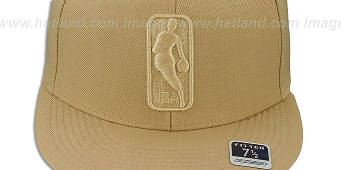 NBA 'TONAL LOGOMAN' Tan Fitted Hat by Reebok