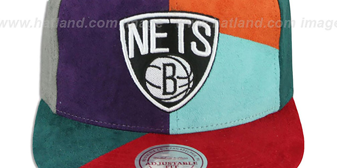 Nets 'CUT-N-SEW PATCHES SNAPBACK' Multi Hat by Mitchell and Ness