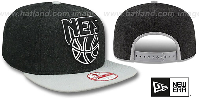 Nets 'LOGO GRAND SNAPBACK' Charcoal-Grey Hat by New Era