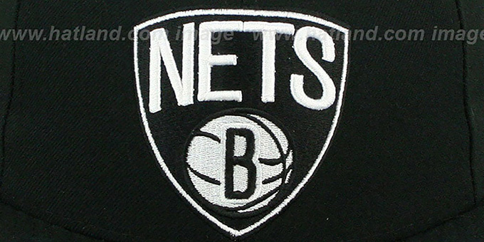 Nets 'NBA-CHASE SHIELD' Black Fitted Hat by New Era