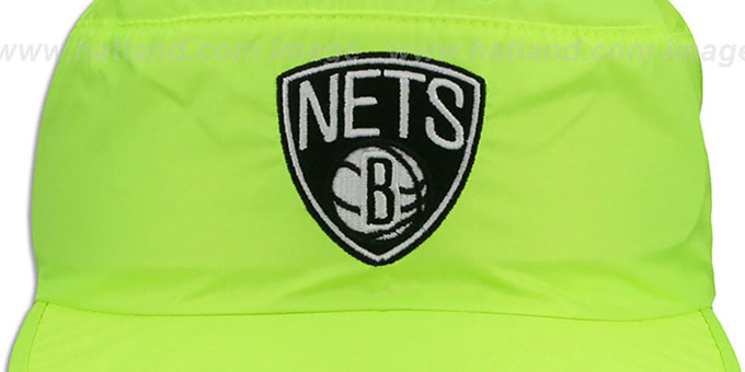 Nets 'NEON PAINTER' Yellow Hat by Mitchell and Ness