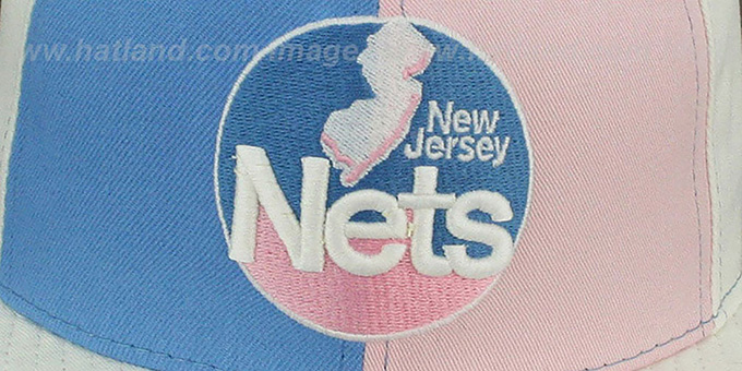 Nets 'PINWHEEL' Columbia-Pink-White Fitted Hat by New Era