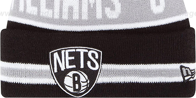 Nets 'THE-COACH WILLIAMS 8' Black Knit Beanie Hat by New Era