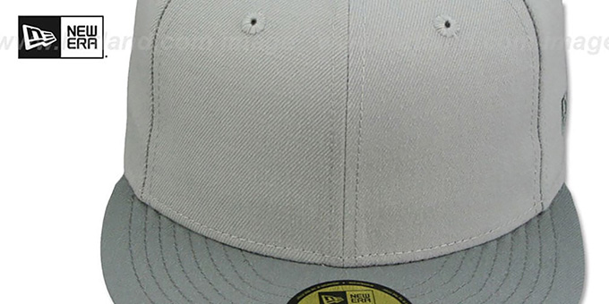 New Era '2T 59FIFTY-BLANK' Grey-Grey Fitted Hat