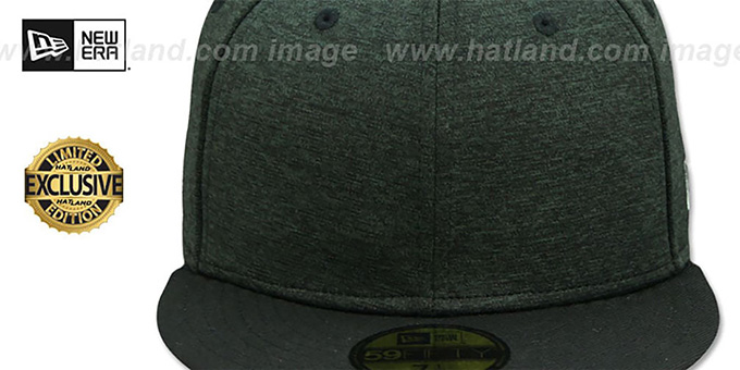 New Era '59FIFTY-BLANK' Black Shadow Tech-Black  Fitted Hat
