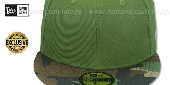 New Era '59FIFTY-BLANK' Rifle Green-Army Camo Fitted Hat