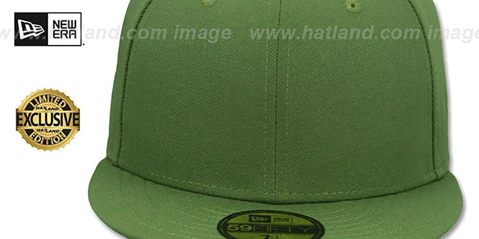 New Era '59FIFTY-BLANK' Rifle Green Fitted Hat