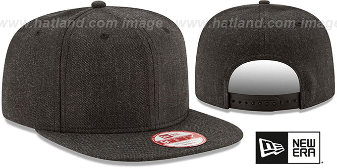 New Era 'BLANK SNAPBACK' Heather Black Adjustable Hat