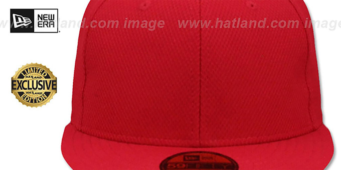New Era 'DIAMOND TECH 59FIFTY-BLANK' Red Fitted Hat