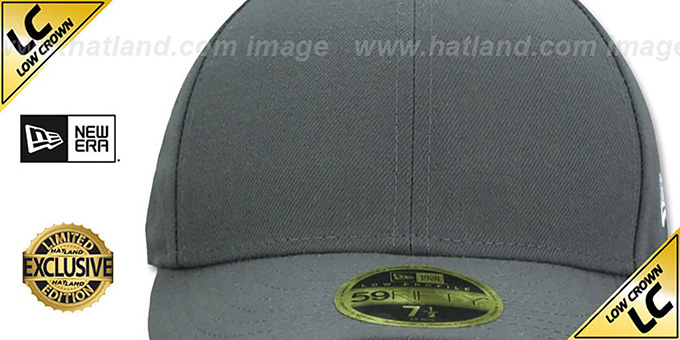 New Era 'LOW-CROWN 59FIFTY-BLANK' Charcoal Fitted Hat