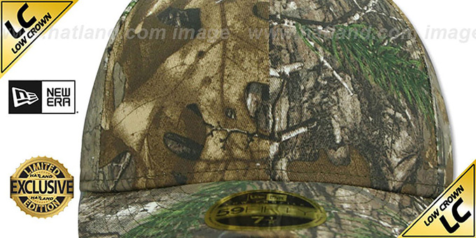New Era 'LOW-CROWN 59FIFTY-BLANK' Realtree Camo Fitted Hat