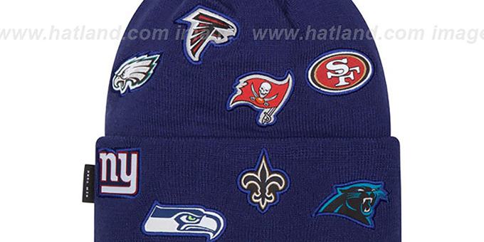 NFL 'NFC TOTAL LOGO' Royal Knit Beanie Hat by New Era