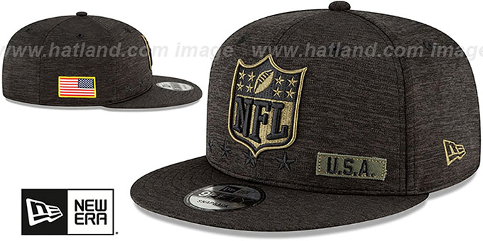 NFL Shield  '2020 SALUTE-TO-SERVICE SNAPBACK' ST Black Hat by New Era