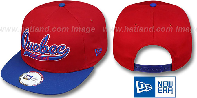 Nordiques '2T SCRIPTER SNAPBACK' Red-Royal Hat by New Era
