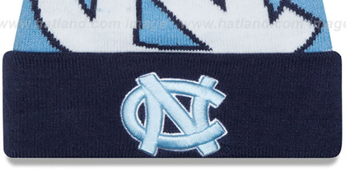 North Carolina 'LOGO WHIZ' Sky-Navy Knit Beanie Hat by New Era