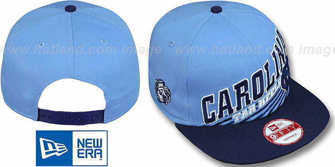 North Carolina 'STILL ANGLIN SNAPBACK' Sky-Navy Hat by New Era