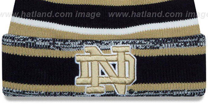 Notre Dame 'NCAA-STADIUM' Knit Beanie Hat by New Era