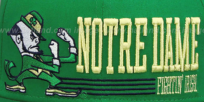 Notre Dame 'RETRO-SNAPBACK' Green Hat by New Era