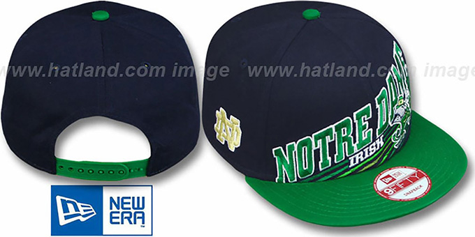 Notre Dame 'STILL ANGLIN SNAPBACK' Navy-Green Hat by New Era