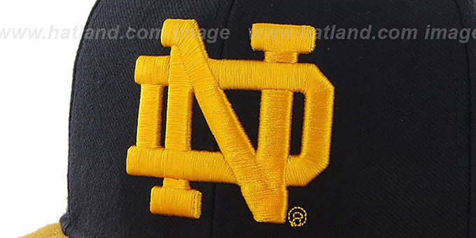 Notre Dame 'SURE-SHOT SNAPBACK' Navy-Gold Hat by Twins 47 Brand