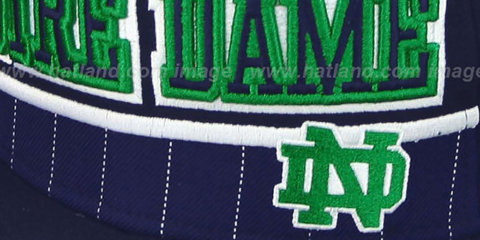 Notre Dame 'WARM-UP SNAPBACK' Navy-Green Hat by New Era