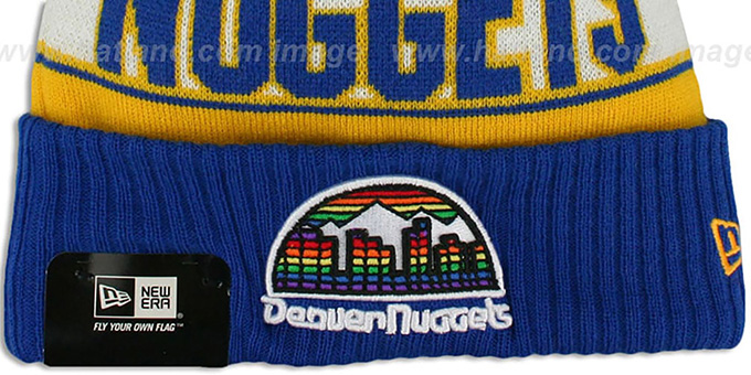 Nuggets HWC 'REP-UR-TEAM' Knit Beanie Hat by New Era