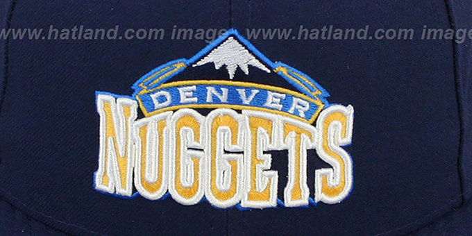 Nuggets 'NBA-CHASE' Navy Fitted Hat by New Era
