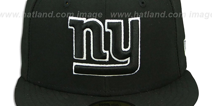 NY Giants 'NFL TEAM-BASIC' Black-White Fitted Hat by New Era