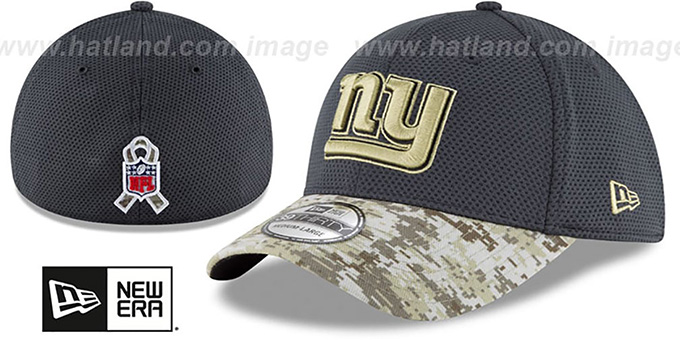 NY Giants '2016 SALUTE-TO-SERVICE FLEX' Grey-Desert Hat by New Era
