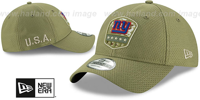 NY Giants '2019 SALUTE-TO-SERVICE STRAPBACK' Olive Hat by New Era