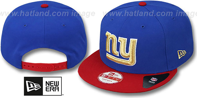 NY Giants 'CHAMPS-HASH SNAPBACK' Royal-Red Hat by New Era