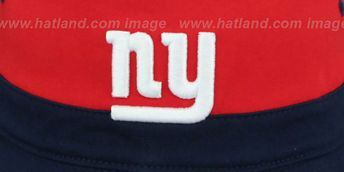 NY Giants 'COLOR-BLOCK BUCKET' White-Red-Navy Hat by Mitchell and Ness